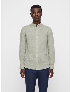 Mens Daniel Linen Melange Shirt Ivy Green