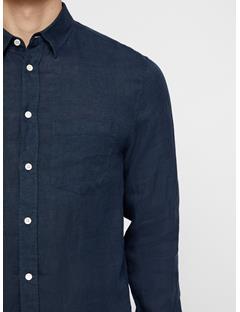 Mens Daniel Linen Melange Shirt JL Navy