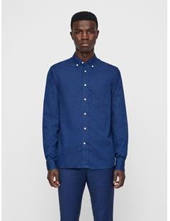 Mens David Chambray Shirt Mid Blue