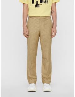 Mens Bootsy Micro Check Pants DESERT DUNES
