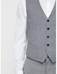 Mens Justin Comfort Wool Waistcoat LT GREY MELANGE