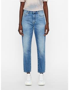 Womens Blue Crape Jeans Mid Blue