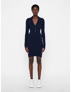 Womens Blanche Cotton Silk Dress JL Navy