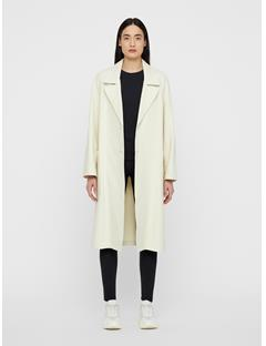 Womens Kahlo Cotton Structure Coat Cloud Dancer