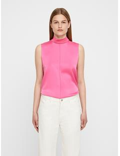 Womens Oceana Washed Silk Top Pop Pink