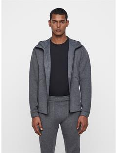 Mens Athletic Tech Hoodie Grey Melange