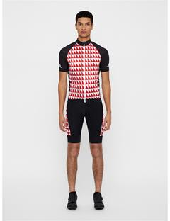 Mens Bike Geo Print Jersey Black