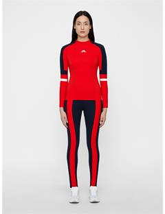 Womens Anick Compression Top Racing Red