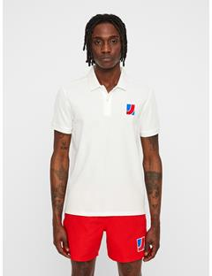 Mens Brand Patch Pique Polo Cloud Dancer