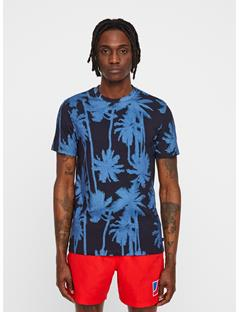 Mens Silo Printed T-shirt Work Blue