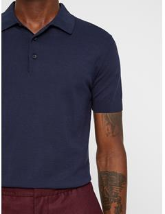 Mens Ridge Cotton Silk Knit JL Navy