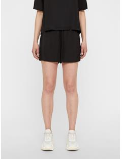 Womens Nova Liquid Satin Shorts Black