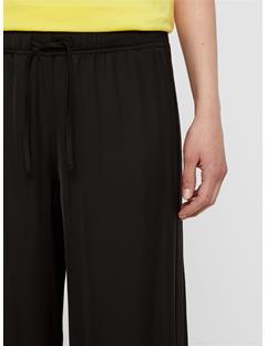 Womens Mila Liquid Satin Pants Black