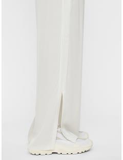 Womens Mila Liquid Satin Pants White