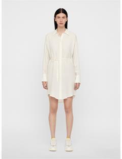 Womens Nicoletta Sheer Shirt Dress White