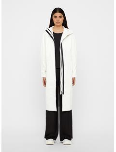 Womens Kim Patent Tyvek Coat White