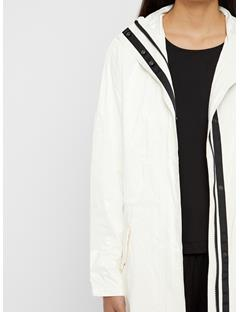 Womens Kim Patent Tyvek Coat White