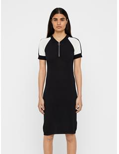 Womens Teri Ribbed Dress Black