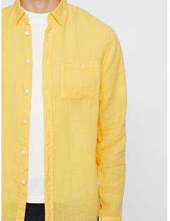 Mens Daniel Linen Shirt Butter Yellow