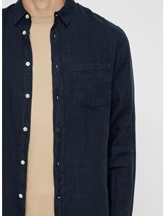 Mens Daniel Linen Shirt JL Navy