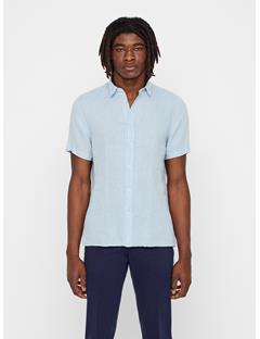 Mens Daniel Short Sleeve Linen Shirt Ice Flow