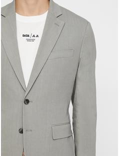 Mens Hopper Soft Stretch Linen Blazer Soft Ash