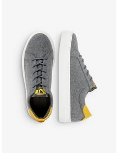 Womens Flannel Wool Sneakers Grey Melange