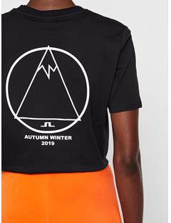 Womens Monique Printed T-shirt Black