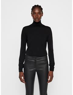 Womens Ava Turtleneck Sweater Black