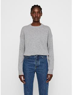 Womens Kerli Cashmere Sweater Light Grey Mel.