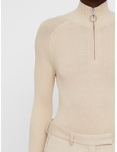 Womens Cara Turtleneck Knit Top Oxford Tan