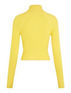 Womens Cara Turtleneck Knit Top Sun Yellow