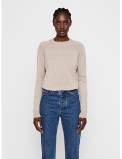 Womens Karla Merino Sweater Oxford Tan