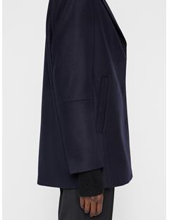 Womens Annie Compact Melton Short Coat JL Navy