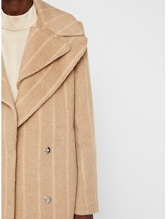 Womens Carmen Mohair Coat Oxford Tan