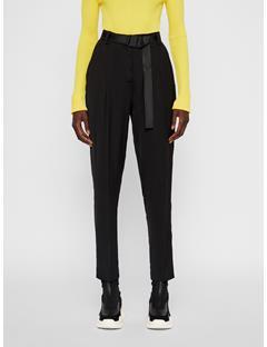 Womens Kerry Satin Pants Black