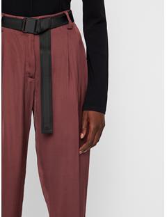 Womens Kerry Satin Pants Dark Mocca