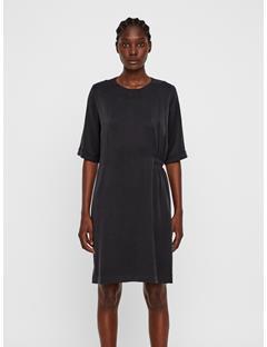Womens Adele Silk Dress Black