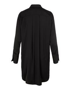 Womens Nicoletta Satin Shirt Dress Black