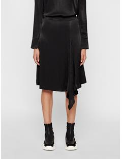 Womens Anja Plisse Skirt Black