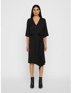 Womens Maia Satin Dress Black