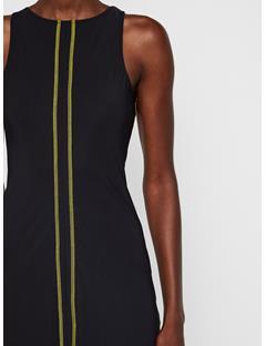 Womens Valeria Tech Jersey Dress Black