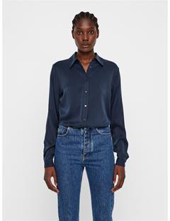 Womens Mallory Silk Shirt JL Navy