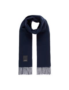 Mens Champ Wool Scarf JL Navy