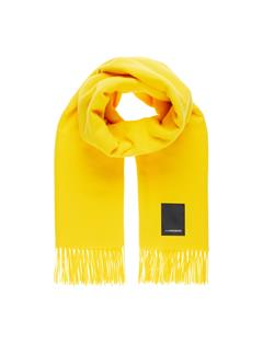 Mens Frame Wool Scarf Sun Yellow