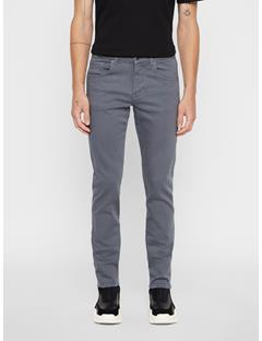 Mens Jay Solid Stretch Jeans Dark Grey