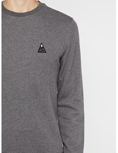 Mens Throw Ring Loop Sweatshirt Dark Grey Melange