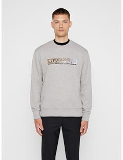 Mens Hurl Ring Loop Sweatshirt Light Grey Melange