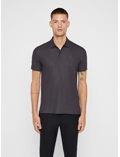 Mens Troy Pique Polo Asphalt Black