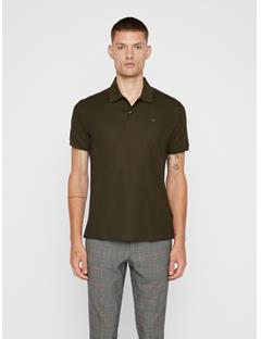 Mens Troy Pique Polo Forest Green